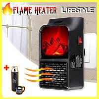 Электрический камин обогреватель с пультом Flame Heater 900W + ПОДАРОК!!! Вакуумный термос 500мл