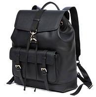 Кожаный мужской рюкзак Tiding Bag B3-1653A черный