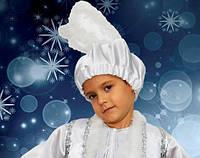 Шапка Зайчика белая Новогодняя