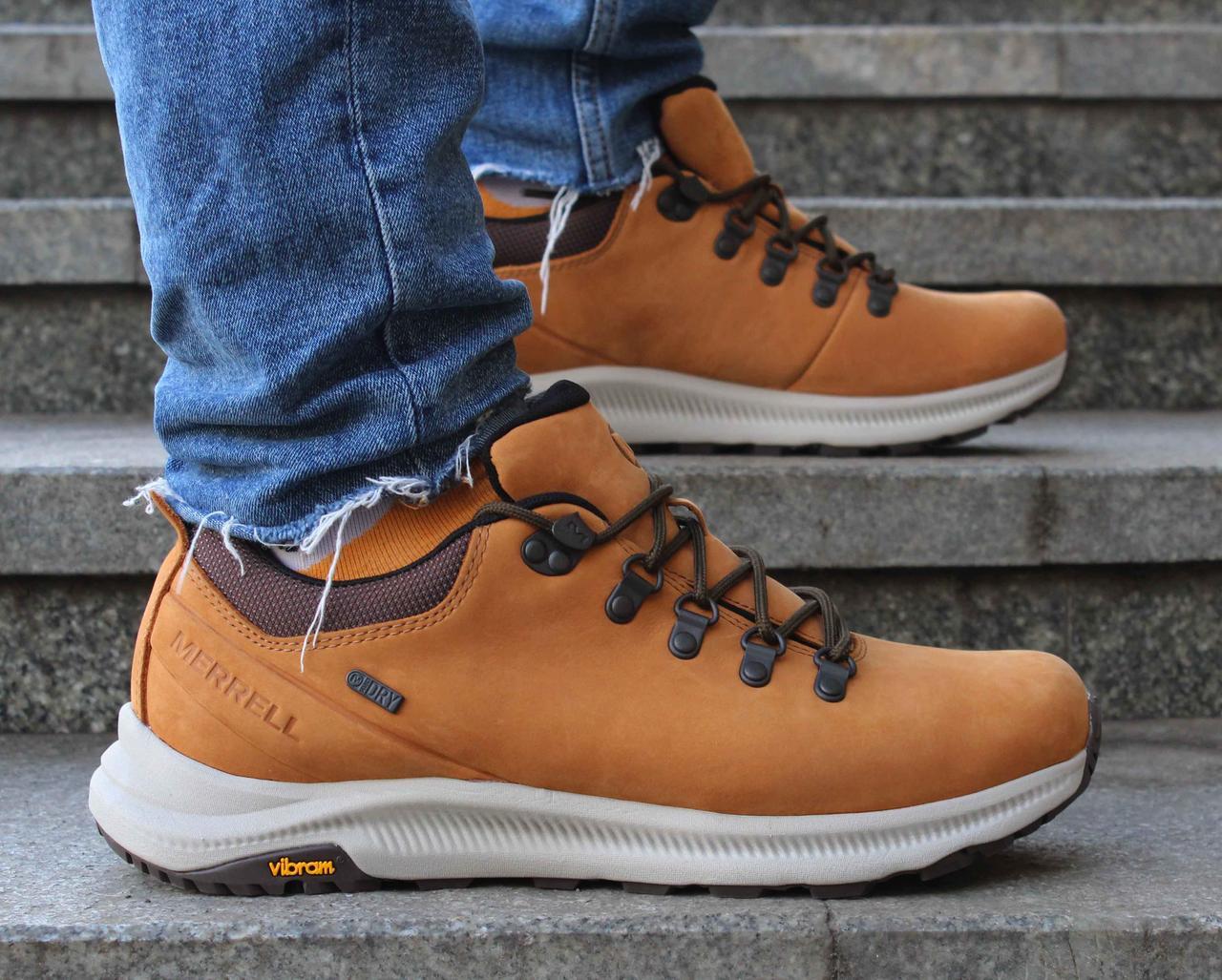 Фирменные мужские низкие зимние ботинки Merrell Ontario waterproof j84915