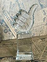 Статуэтка кубок Лайк, Класс, Палец вверх, корпоративные подарки