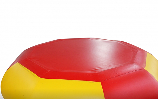 Тюбинг санки ватрушка для снега желто-красный ЛСТ-9004, фото 2