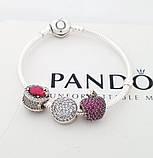 Браслет Пандора с застежкой  сердце p-lock  PANDORA стиль, фото 2