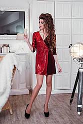 Платье Запах Поетка с Люрексом, Осень - Зима