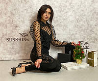 Женское боди  из сетка-органза хлопок Poliit 2012, фото 1