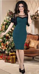 Шикарное платье,изумруд 42-48рр