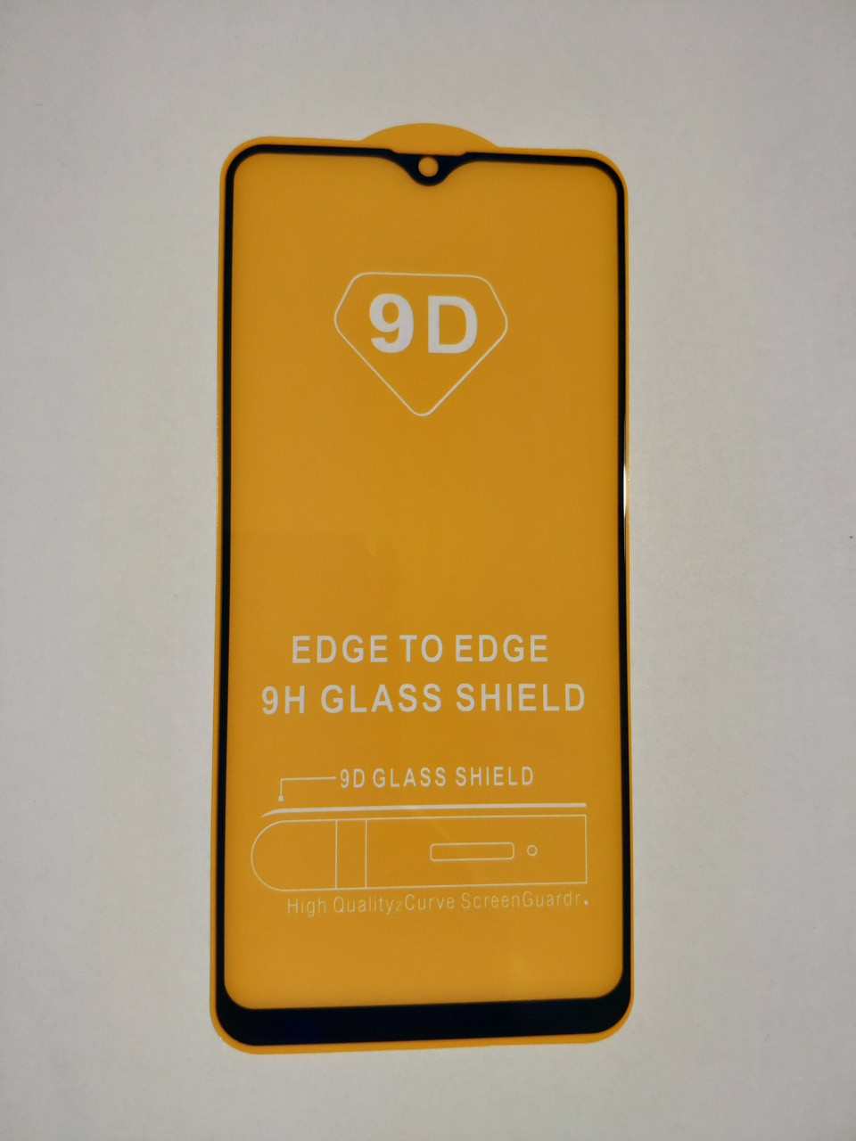 Защитное стекло 9D для Samsung A20S / A207F Full Glue Черное