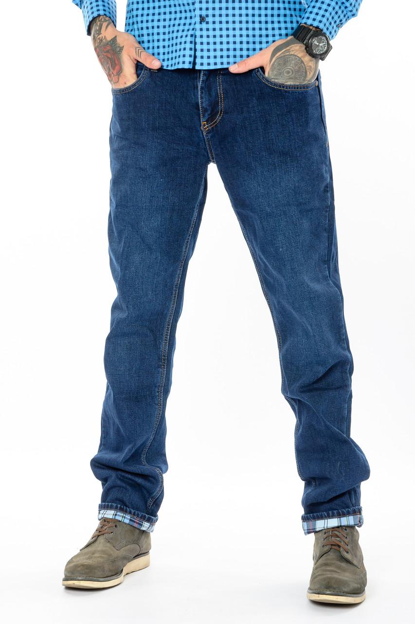 Мужские джинсы утепленные Franco Benussi 20-125 TORINO синие