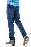 Мужские джинсы утепленные Franco Benussi 20-125 TORINO синие, фото 3