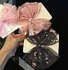 Бантики для волос чёрные, заколки бантики детские, фото 2