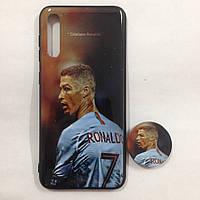 Чехол для Samsung A50/A30s Ronaldo + Popsocket
