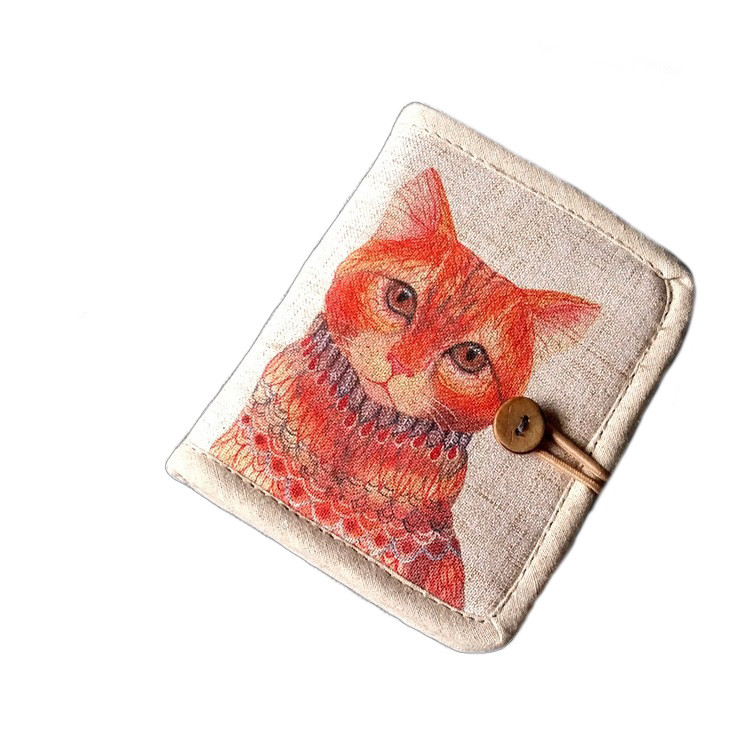 Жіночий текстильний гаманець Котофей GP