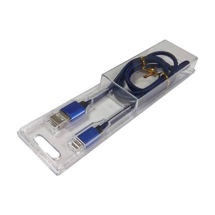 Кабель синхронізації SmartUSB V8 Армований microUSB 1 м. (Blue), фото 2