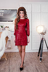 Платье Велюр Поетка, Осень - Зима