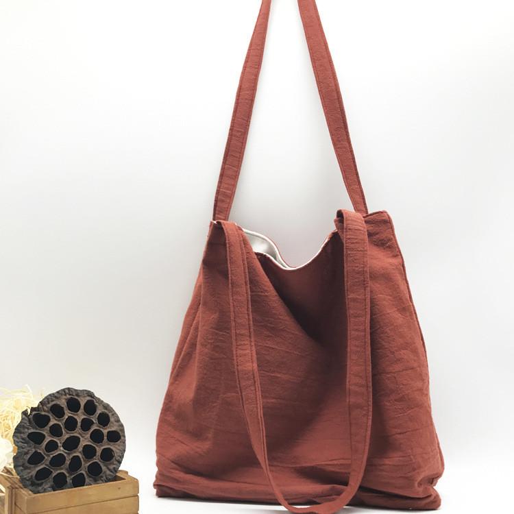 Летняя текстильная сумка. Кирпичная  GP