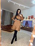Женское платье на кнопках из эко-кожи с ремнем (в расцветках), фото 5