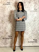 Женское платье из костюмной ткани с люрексом  Poliit 8679, фото 1