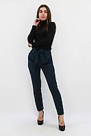 S, M, L, XL / Жіночі брюки з пояском Kosmo, темно-зелений