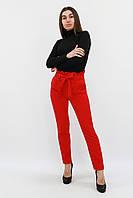 S (42-44) / Жіночі брюки з пояском Kosmo, червоний