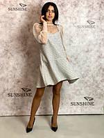 Женское платье из фактурной шерстяной ткани Poliit 8683, фото 1