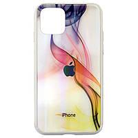 Чехол накладка xCase на iPhone 11 Polaris Smoke Case Logo white