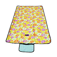 Раскладной коврик для пикника 145х80 см, желтый