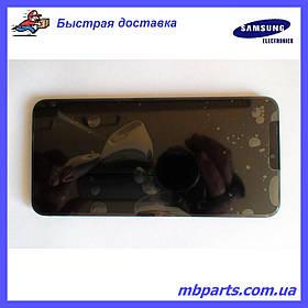 Дисплей с сенсором Samsung А105 Galaxy А10 Black, GH82-19367A, оригинал с рамкой!