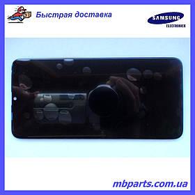 Дисплей с сенсором Samsung M105 Galaxy M10 чёрный,  GH82-19124A, оригинал, без рамки!