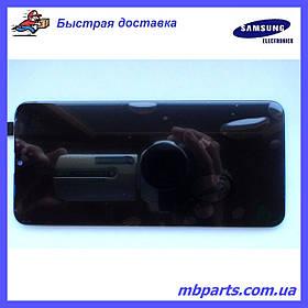 Дисплей с сенсором Samsung M205 Galaxy M20 чёрный,  GH82-18682A, оригинал, без рамки!