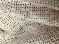 Филейное полотно Нежно- светлый персик 240 см (для пледов и покрывал)