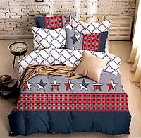 Комплект постельного белья двуспальный Евро Amercan Star Сатин Фабричная Турция