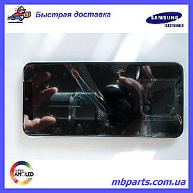 Дисплей с сенсором Samsung A505 Galaxy A50 Black, GH82-19204A, оригинал!