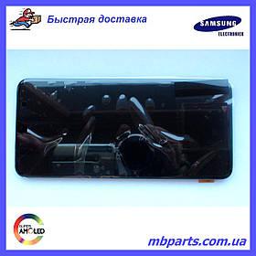 Дисплей с сенсором Samsung A705 Galaxy A70 Black, GH82-19747A, оригинал!