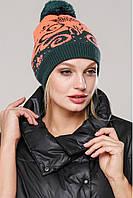 Зимняя шапка на флисе для девочек, модель Мика Nui very