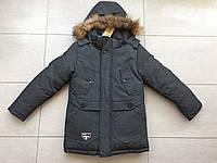 Куртка зимняя на мальчика 7-11 лет новый материал