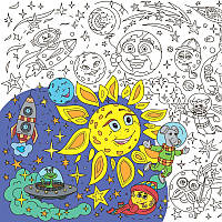 Плакат-раскраска Космос (SV)