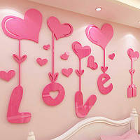 Акриловая 3D наклейка With Love