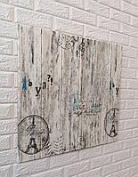 3D панель самоклеящая Обои под дерево Самоклейка 3Д Деревянная мозаика Париж Серый