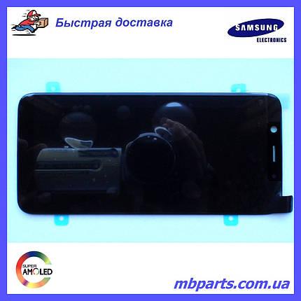 Дисплей с сенсором Samsung А600 Galaxy А6 2018 чёрный/black, GH97-21897A, фото 2