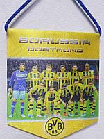 """Вымпел тканевой """"Евро клубы"""" FC Borussia Dortmund р.13*11 см."""