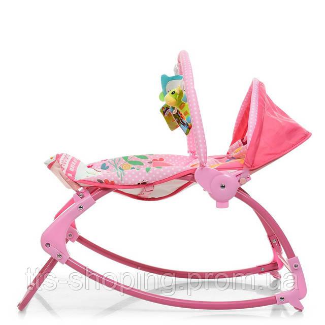 Шезлонг-качалка Bambi PK-306-8 Pink - фото 1