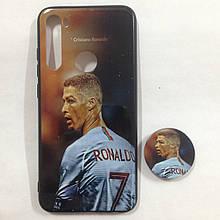 Чехол для Xiaomi Redmi Note 8 Ronaldo + Popsocket