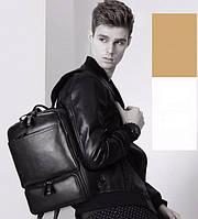 Мужской кожаный Рюкзак Tiding Bag B3-1697A черный