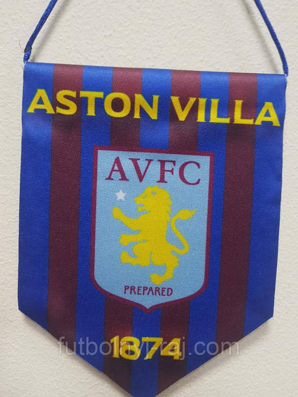 Вимпел футбольний із зображенням герба FC Aston Villa.