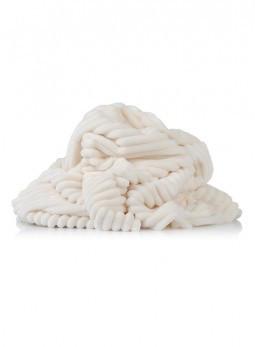 Плюшевая ткань Stripes молочный (плот. 350 г/м.кв) Отрез(0,7*1,5м)