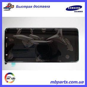 Дисплей с сенсором Samsung A750 Galaxy A7 2018 чёрный/black, GH96-12078A, фото 2
