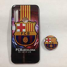 Чехол для Xiaomi Redmi Note 8 Barcelona + Popsocket