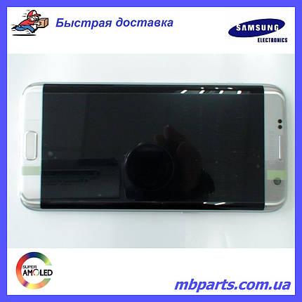 Дисплей Samsung G935 Galaxy S7 Edge с сенсором Silver, GH97-18533B, фото 2