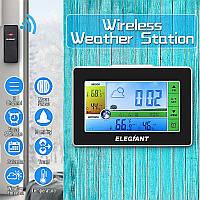 ELEGIANT цифровая сенсорная метеостанция и наружный датчик влажности Термометры термометр гигрометр  EOX-9908