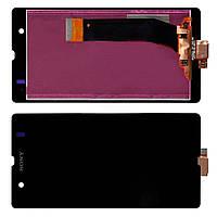 Sony Xperia Z c6603 L36h дисплей в зборі з тачскріном модуль чорний